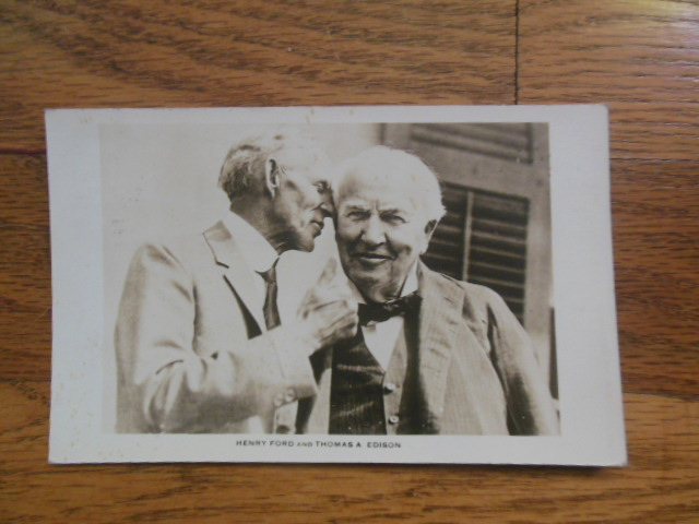 Image for Postcard Henry Ford and Thomas A. Edison (1935)