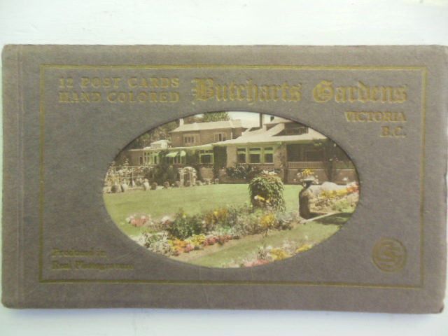 Image for 12 Post Cards Hand Colored  Butcharts Gardens Victoria, British Columbia