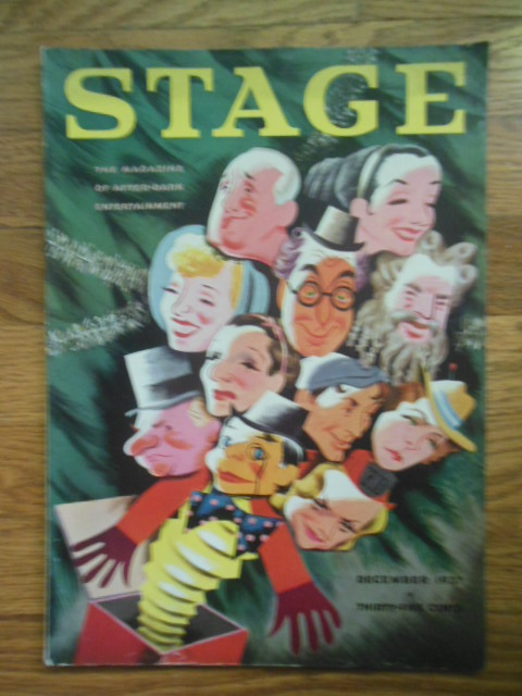 Image for Stage; The Magazine of After   Dark Entertainment December, 1937 (FDR Lampoon, Snow White & 7 Dwarfs Movie)