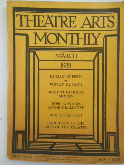 Image for Theatre Arts Monthly Magazine March 1933 (Noel Coward)