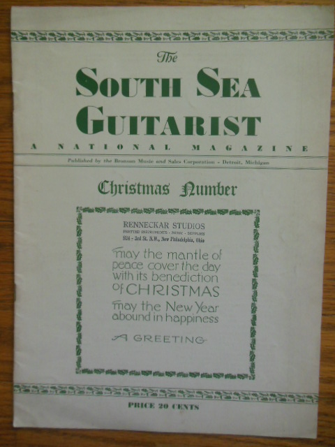Image for The South Sea Guitarist A National Magazine; Christmas Number  December, 1936