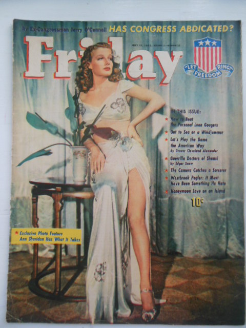 Image for Friday Magazine July 11, 1941 (Ann Sheridan, Windjammers, Poll Tax, Sorcery)