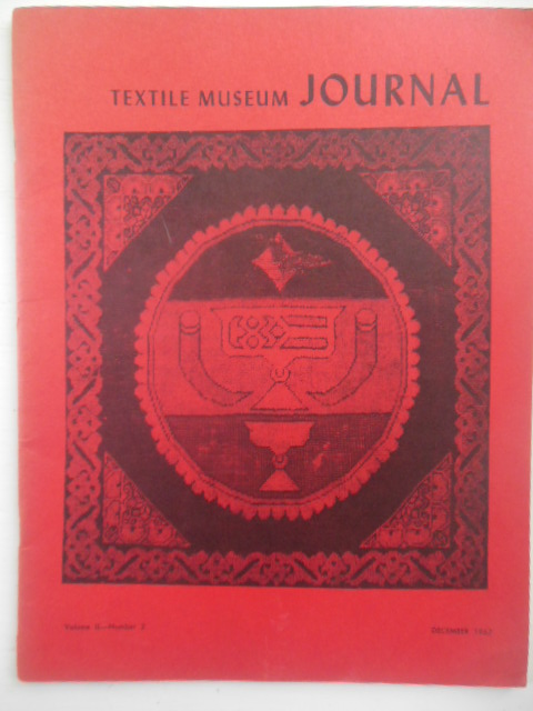 Image for Textile Museum Journal December, 1967 (Fine Rugs; Malmuks; Drycleaning Fragile Textiles)