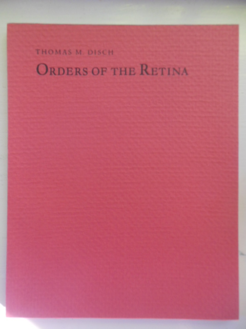Image for Orders of the Retina; Thomas M. Disch (Poetry, 1982)