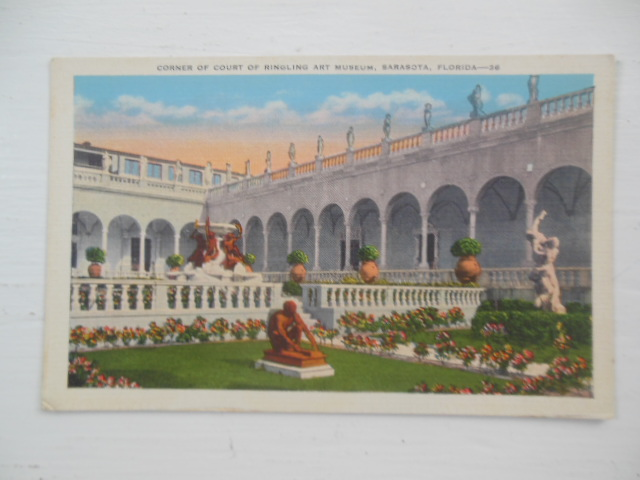 Image for Postcard Corner of Court Ringling Art Museum, Sarasota, Florida