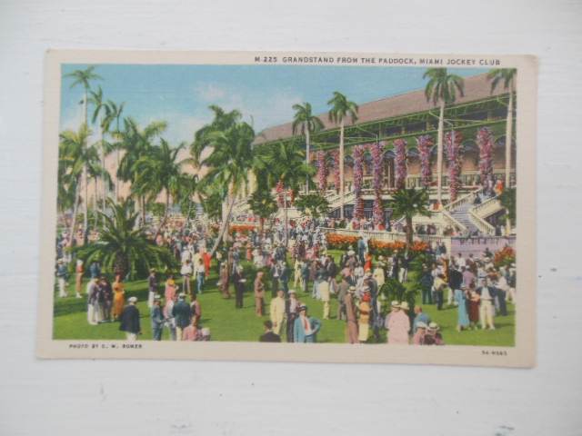 Image for Postcard Grandstand For the Paddock, Miami Jockey Club