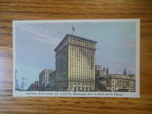 Image for Color Postcard Hotel Statler St. Louis, Missouri (1920's)