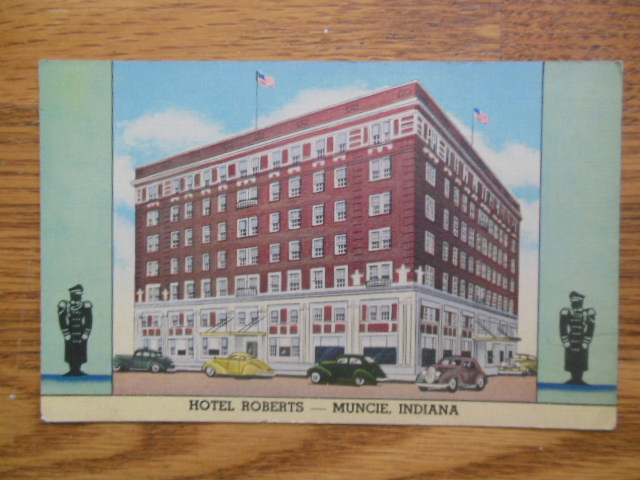 Image for Postcard Hotel Roberts, Muncie Indiana