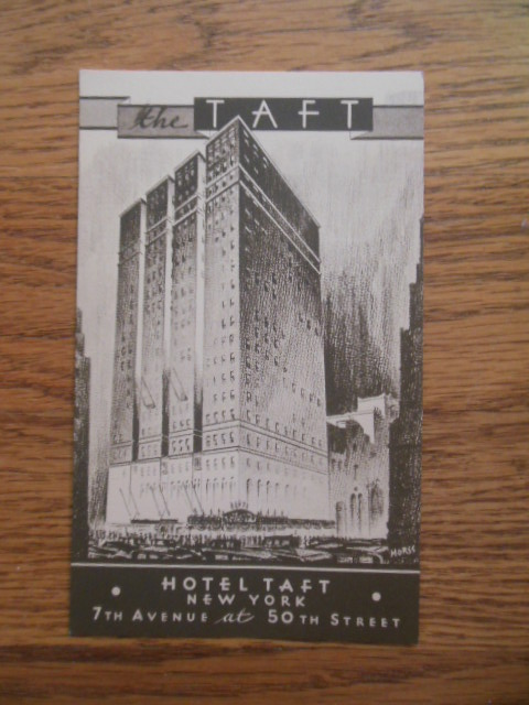 Image for Postcard The Taft, Hotel Taft New York City