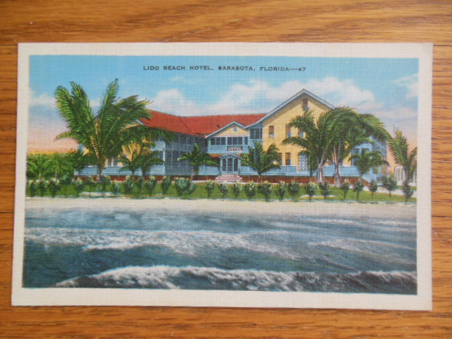 Image for Linen Postcard Lido Beach Hotel, Sarasota, Florida