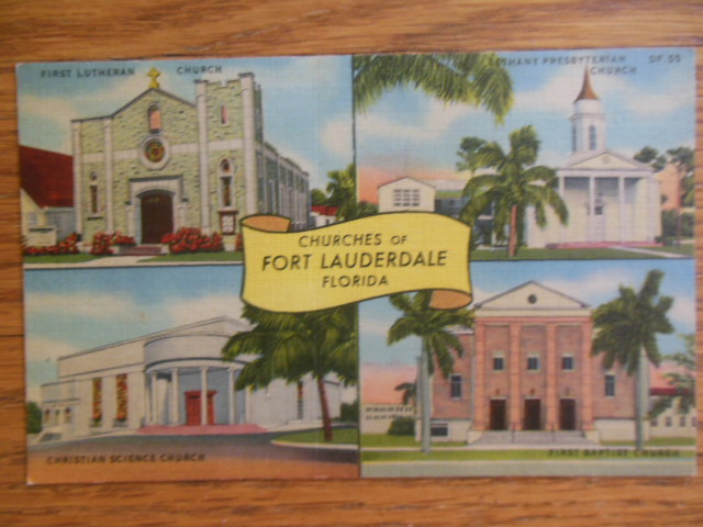 Image for Postcard Churches of Fort Lauderdale Florida