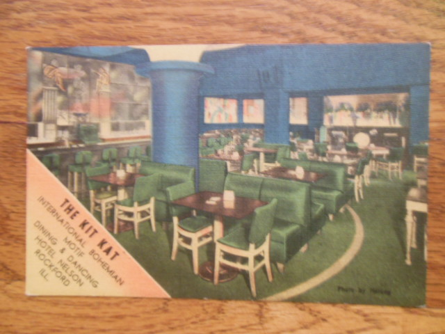 Image for Postcard The Kit Kat Room Nelson Hotel Rockford, Illinois