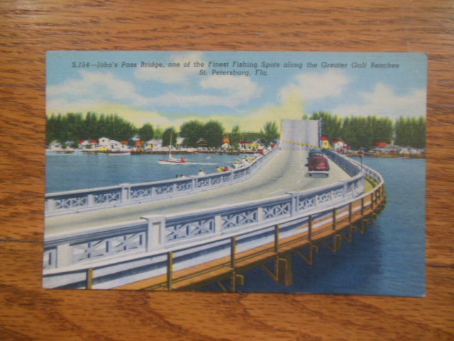 Image for Postcard John's Pass Bridge  St. Petersburg, Florida