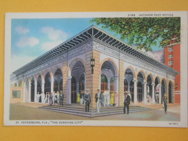 Image for Postcard Outdoor Post Office St. Petersburgh, Florida