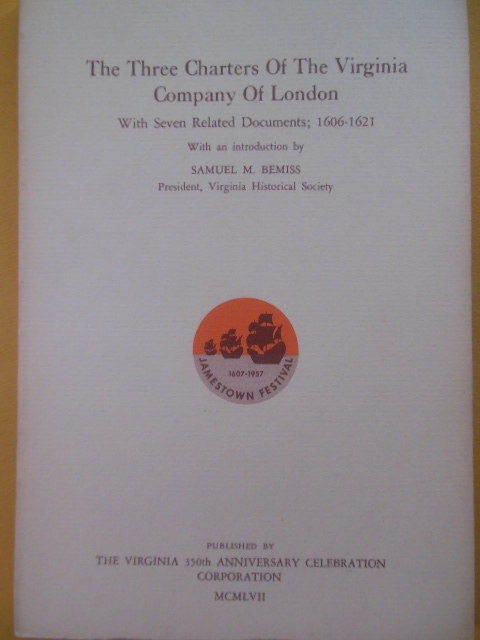 Image for The Three Charters of the Virginia Company of London (1957)