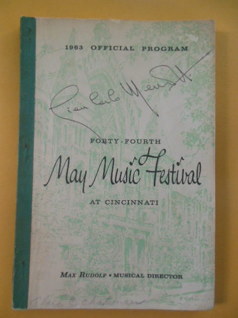 Image for Forty-Fourth May Music Festival at Cincinnati (1963 Official Program)