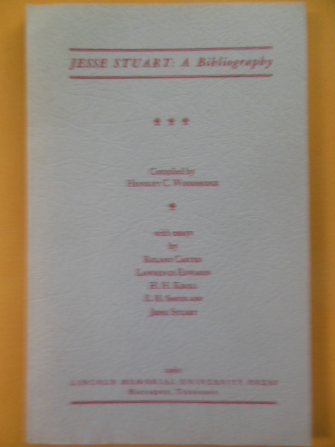 Image for Jesse Stuart: A Bibliography (1960)