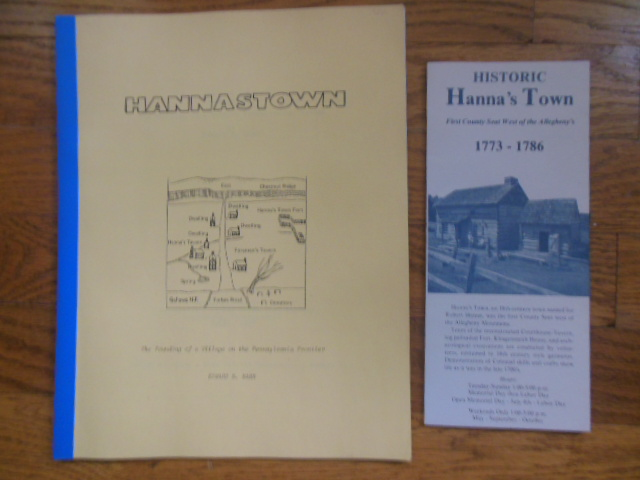 Image for Hannastown; Historic Hanna's Town (1977)