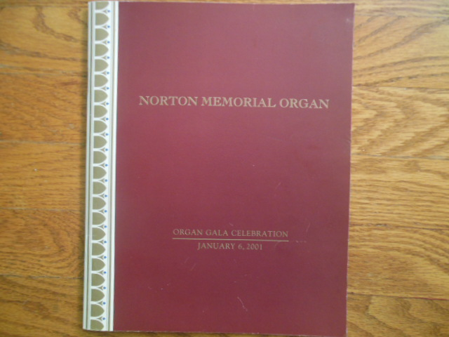 Image for Norton Memorial Organ: Organ   Gala Celebration January 6, 2001 (Cleveland)