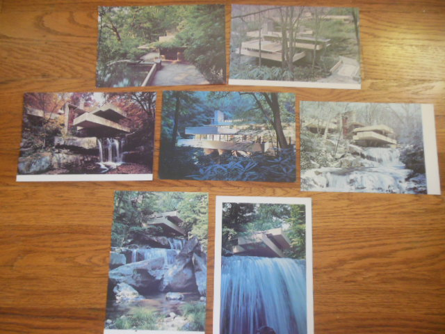 Image for Postcards Fallingwater Frank Lloyd Wright (Seven Oversized Cards 1975)
