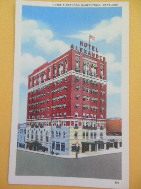 Image for Postcard Hotel Alexander Hagerstown, Maryland