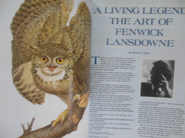 Image for Wildlife Art News July/August, 1987 (Charles Frace, Wildlife totems, Fenwick Lansdowne, Robert Clement Ray)