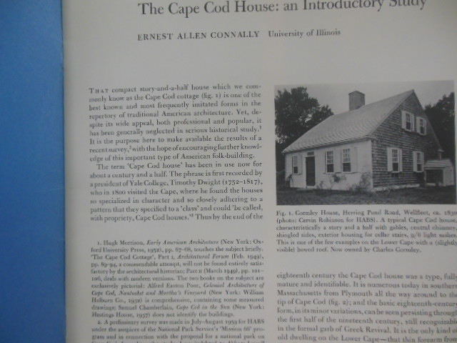 Image for The Cape Cod House: An Introductory Study (1960)