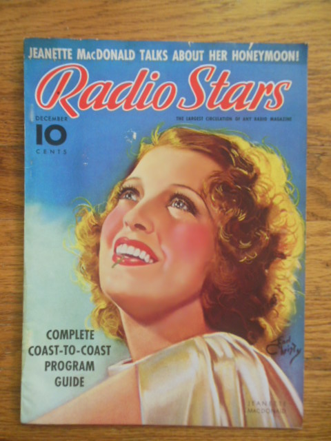 Image for Radio Stars Magazine December 1937 (Jeanette MacDonald, Kitty Carlisle)