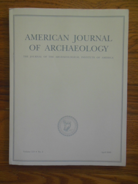 Image for American Journal of Archaeology April, 2009 (Etruscan Heaven,Pottery at Pompeii, Triconch House)