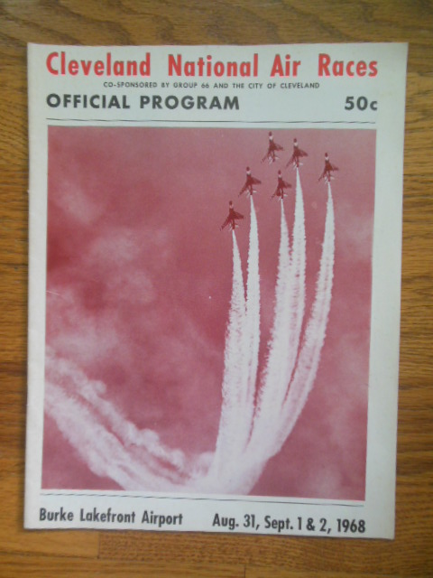 Image for Official Program Cleveland National Air Races 1968