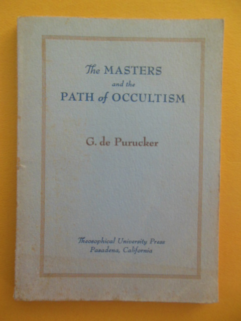 Image for The Masters of the Path of Occultism  (1954)