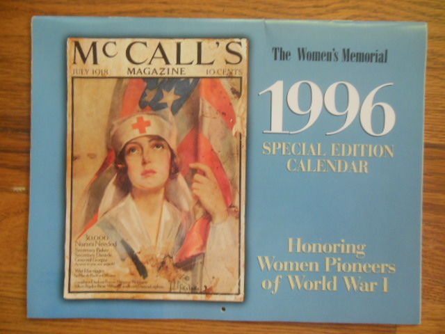 Image for The Women's Memorial 1996 Special Edition Calendar Honoring Women Pioneers of World War I