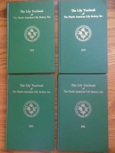 Image for The Lily Yearbook of The North American Lily Society (four volumes 1978, 1979, 1980, 1981