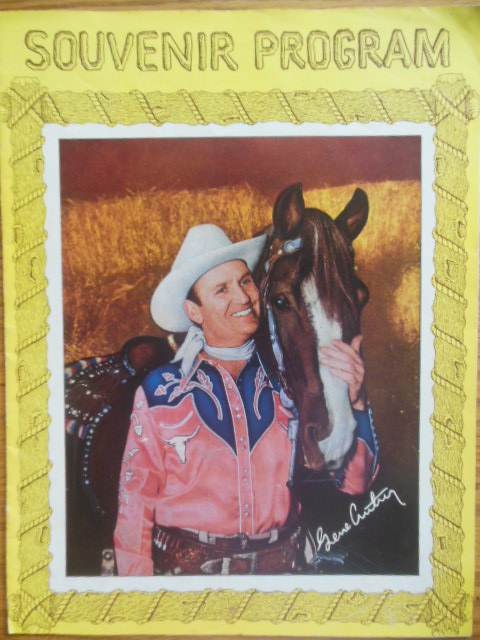 Image for Souvenir Program Gene Autry (1950's)