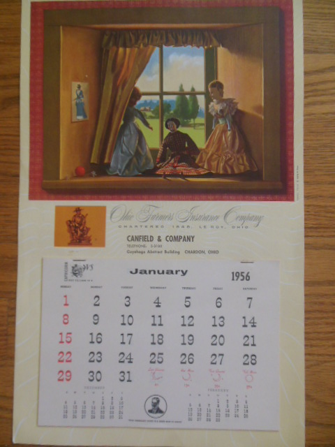 Image for Calendar 1956 Ohio Farmer's Insurance Co.; Canfield and Company Agency Chardon, Ohio (Doll Theme)