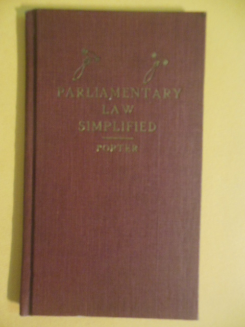 Image for Parliamentary Law Simplified (Small Book)
