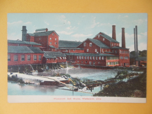 Image for Postcard Wadsworth Salt Works, Wadsworth, Ohio (early 1900's)