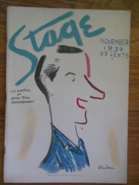 Image for Stage The Magazine of After Dark Entertainment November, 1936 (George Kaufman, Cole Porter, Irving Berlin)