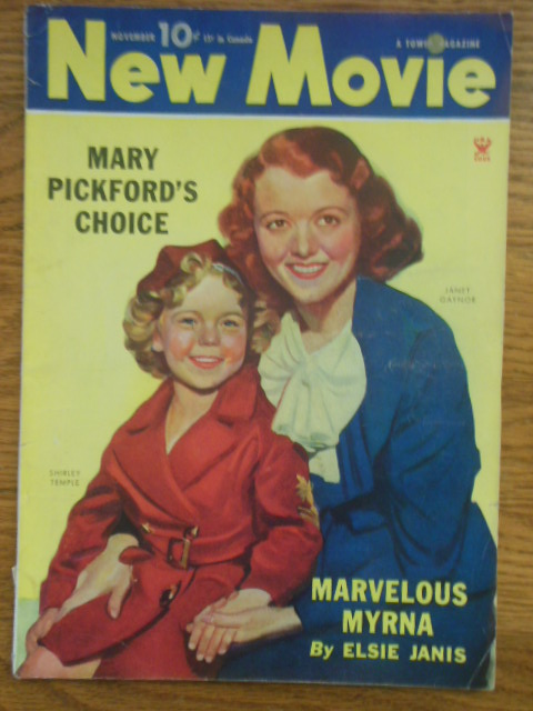 Image for New Movie Magazine November, 1934 (Myrna Loy, Mary Pickford, Shirley Temple)