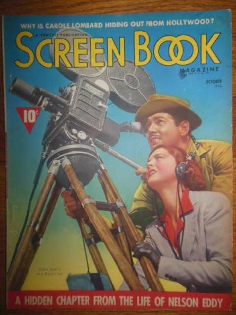 Image for Screen Book Magazine October, 1938 (Nelson Eddy, Carole Lombard, Ginger Rogers, Ann Sheridan)