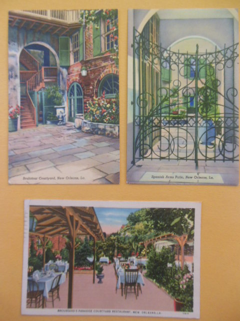 Image for Postcards New Orleans Spanish Arch Patio, Brulatour Courtyard, Broussard's Restaurant (1939-40's)