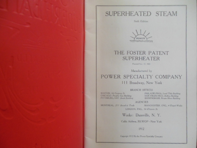 Image for Foster Superheaters Power Speciality Company 1912