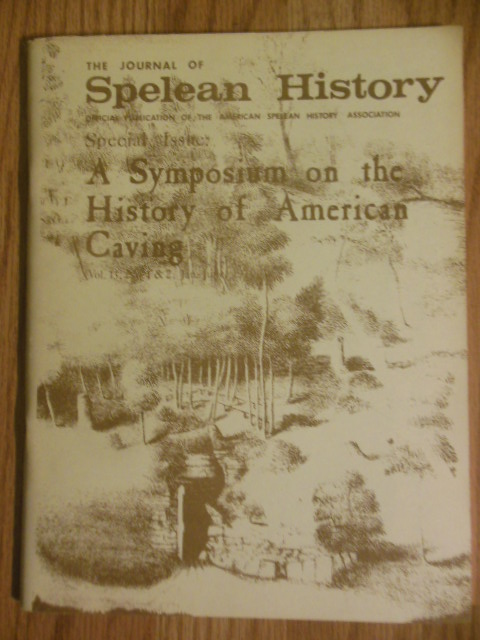 Image for The Journal of Spelean History Special Issue: A Symposium on the History of American Caves (1979)