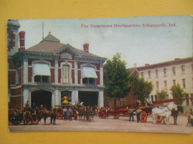 Image for Postcard Fire Department Headquarters, Indianapolis, Ind.