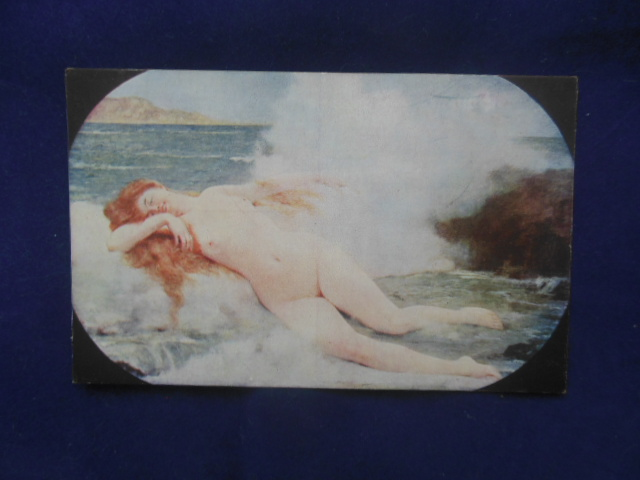 Image for Postcard H. Gervex The Bird of Venus Nude Woman Lying in the Tide