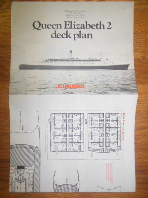 Image for Queen Elizabeth 2  Deck Plan (Cunard 1973)
