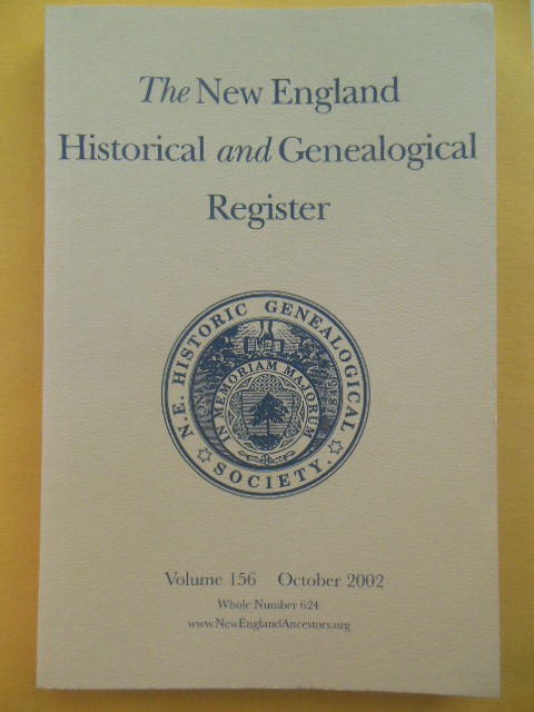 Image for The New England Historical and Genealogical Register (Volume 156 October 2002)