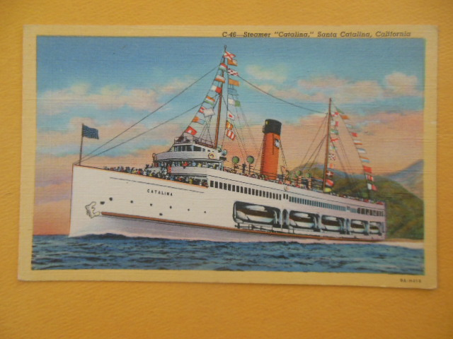 "Image for Postcard C-46 Steamer ""Catalina,"" Santa Catalina, California"