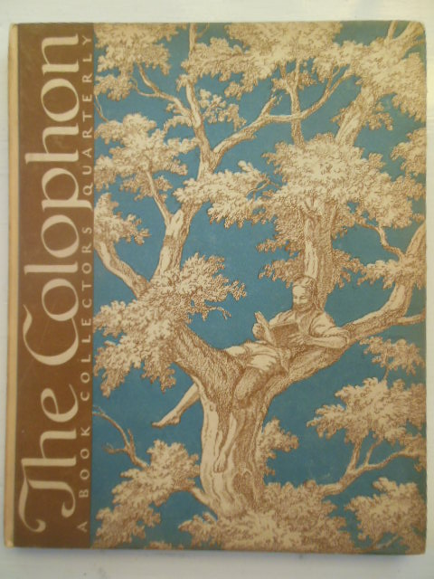 Image for The Colophon; A Book Collectors Quarterly (Part Eleven 1932)