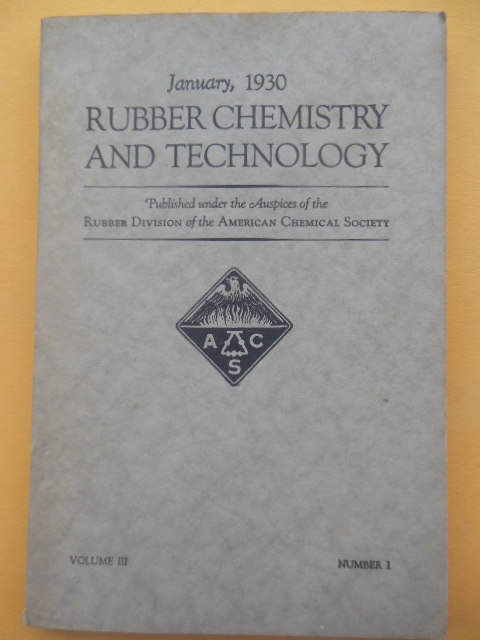 Image for Rubber Chemistry and Technology January, 1930